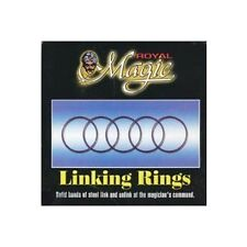 """Linking Rings 5"""" Royal classic magic trick eight rings basic complex heavy duty"""