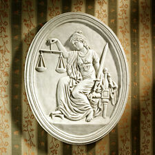 Famous Courthouse Replica Scales of Lady Justice Sword of Reason Wall Sculpture