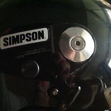 SIMPSON HELMET billet aluminium visor pivots ( kit ) RX8 & bandit / Stormtrooper