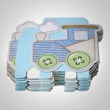 12x Candy Sweet Gift Bag Box Wedding Party Favour Baby Shower Cute Car Blue