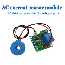 (Working DC24V) 50A AC Current Sensor Module Detection Module Switch Output