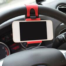 Universal Rot Handy KFZ Auto Lenkrad Halter Halterung für Für Handy GPS Neu