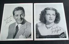 Lot of 2 1946 Chesterfield Supper Club Photos: Perry Como & Jo Stafford