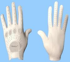 NEW MENS size 7.5 WHITE GENUINE KID LEATHER DRIVING GLOVES
