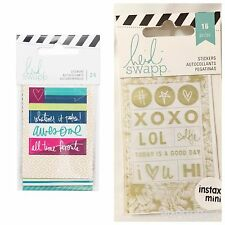 Heidi Swapp Instax Mini Stickers Whatever It Takes Awesome All Time Fav Love