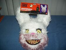 Deadly Snowball Fluffy / Furry Killer White Bunny Rabbit Adult Mask Costume