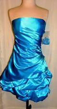 LETS FASHION TEAL GREEN STRAPLESS SPECIAL OCCASIONS DRESS SIZE, X-SM