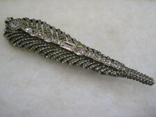 "HEIDI DAUS ""Quite The Quill"" Crystal Feather Pin (Orig.$179.95)"