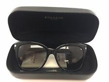 New Coach HC 8103 L080 Alfie Black/Beige Ocelot sig Women's Sunglasses 55mm.