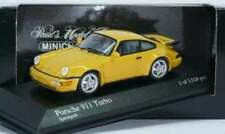 RARE MINICHAMPS PORSCHE 911 (964) TURBO SPEED YELLOW 1:43 OBSOLETE