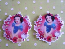 2 x Large Snow White Flatback Planar Resin, Hair Bow, Crafts Embellishments UK