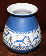 JUDAICA JEWISH EARLY ISRAEL CERAMIC VASE BY LAPID