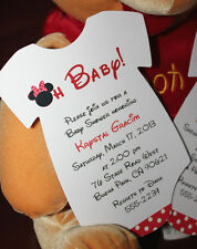 Minnie Mouse Onesie Baby Shower Invitation - All Wording Customized for You!!