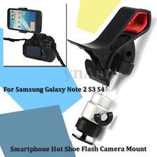 Universal Smartphone 1/4'' DSLR Clip Hot Shoe Flash Camera Adapter Mount Holder
