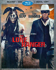The Lone Ranger (Blu-ray + DVD + Digital, 2013, 2-Disc Set, w/ Slipcover) Disney