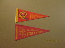 NFL Forty Niners Vintage Lot of 2 Mini Logo Pennants #2