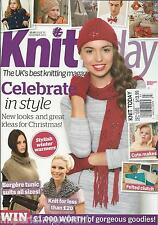 Knit Today magazine Christmas projects Stylish winter warmers Felted clutch