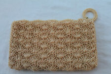 Stunning Vintage 1950's Cream Fully Hand Beaded Evening Bag / Cocktail Purse