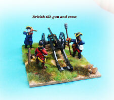 French & INDIAN WAR-British Artiglieria 6lb pistola e Crew