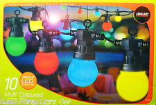 10 Piece Coloured LED Festoon Party Light Kit