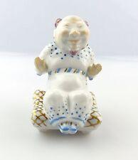 #e5117 Seltene Wallendorf Figur Porzellan sitzender Chinese Handarbeit