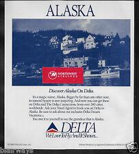 DELTA AIR LINES 1988 DISCOVER ALASKA ON DELTA KETCHIKAN AD