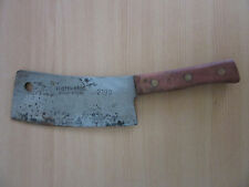 "Vintage Foster Bros. Solid Steel 2190 Meat Cleaver 9"" #1"