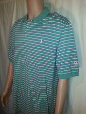 Polo Golf Ralph Lauren Green Pink Striped Shirt Men's XL       H20