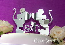 Acrilico iniziale Mickey Minnie Mouse wedding Engagement Cake Topper Decorazioni