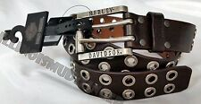 Harley-Davidson Brown Leather Belt with Metal Grommets by LODIS men's size 38