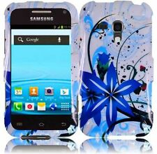 For Samsung Galaxy Rush M830 HARD Snap On Protector Case Phone Cover Blue Splash
