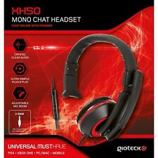 Gioteck XH50 Wired Gaming Headset Mono Rojo (PS4/XBOX PC) nuevo/One