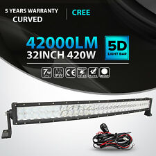 32inch 420W CREE 6D Curved Led Light Bar Combo Offroad Driving Car SUV ATV 4WD