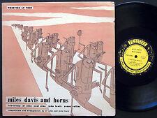 MILES DAVIS And Horns LP PRESTIGE 7025 US 1956 DG MONO Sonny Rollins Zoot Sims