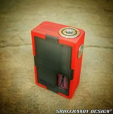 MINUTO V2 26650/18650 SQUONK 3D Mod Box TRANSPARENT EDITION Blood Red/Onyx Black