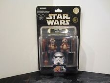 Star Wars Tours Chip And & Dale As Ewoks Action Figure Toy Set Disney Parks Rare