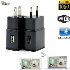 Mini 1080P 8GB WIFI HD SPY DVR Hidden Wall Charger Camera Adapter Plug Nanny Cam
