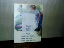 Two's Company Peggy Photo Frame With Story Words Come And Play 3  1/2 x 5 Sealed