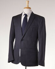 NWT $1295 VERSACE COLLECTION Solid Charcoal Gray Slim-Fit Wool Suit 40 R (Eu 50)