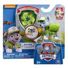 Paquete De Acción Paw Patrol Pup y Insignia Pack-Rocky-totalmente Nuevo