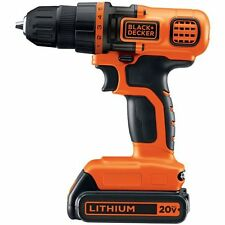 Black & Decker LDX120C CORDLESS DRILL, 20 V Max Lithium Ion POWER DRILL DRIVER