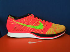 NIKE FLYKNIT RACER HYPER PUNCH 13 multicolor Pink Red Volt Black White Trainer