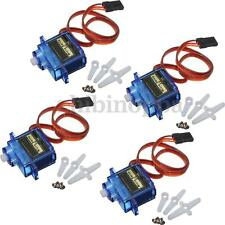 4Pcs SG90 9g Mini Micro Servos Gear Motor Horn For RC  Robot Toy Car Helicopter