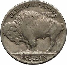 1935D BUFFALO NICKEL 5 Cents of United States of America USA Antique Coin i43797