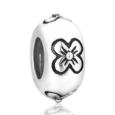 SC Daisy Charms Stopper Spacer Bead 925 Sterling Silver Gift Packing Inlcuded