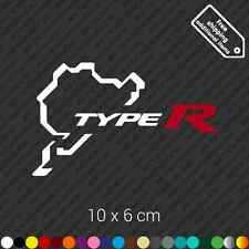 Nurburgring Honda Type R car sticker decal vinyl - White and Red