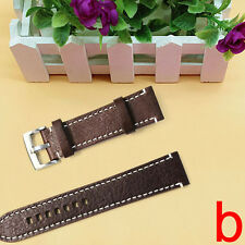 New Leather Vintage Wrist Let Watch Band Strap Black Brown Width 18 20 22mm New