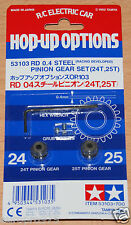 Tamiya 53103 RD 0.4/04 Steel Pinion Gear Set (24T & 25T) *F102/F103/F104/Group-C