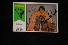 DAVE DRYDEN 1974-75 WHA O-PEE-CHEE SIGNED AUTOGRAPHED CARD #20 COUGARS