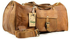 NEW Vintage Handmade Goat Leather Duffel Bag,Gym Bag,Overnight Bag Square 20""